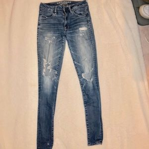 holy medium wash american eagle jeans